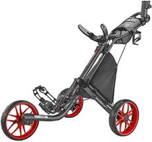 Caddytek EZ V8 3 Wheel Golf Trolley-Red