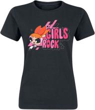 The Powerpuff Girls - Girls Rock -T-skjorte - svart