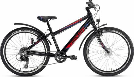 Puky Crusader 24-8 Lapset lasten polkupyörä Alu Active light , punainen/musta 2019 Lasten kulkuneuvot