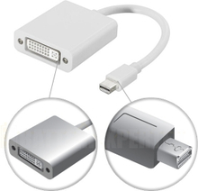 Mini DisplayPort til DVI-D Single Link adapter, 20-pin ha - 24+5-pin hu, 0,1m