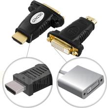 HDMI-adapter, HDMI 19-pin output til DVI-D input, gullbelagte kontakter