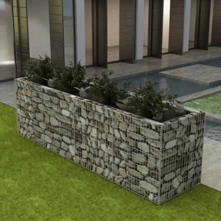 vidaXL gabion-plantekasse i stål 360 x 90 x 100 cm