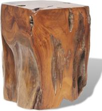 vidaXL taburet massivt teaktræ