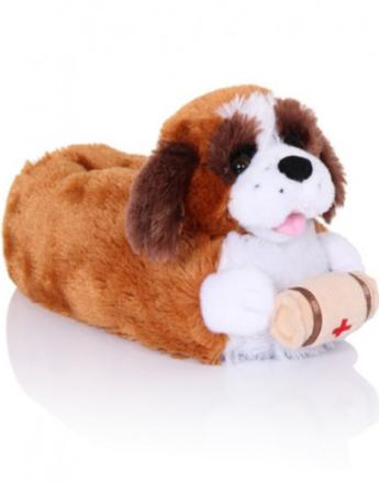 Brune St. Bernards Hund Tøfler