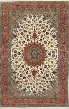 Tabriz 50 Raj med silke matta 200x312 Persisk Matta