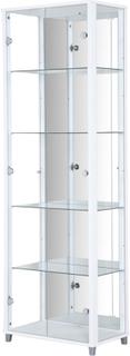 Optima vitrin & glasskåp - vitt 2 dörrar (med spegelbakstycke)