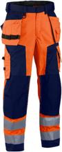 Blåkläder Byxa 1567 Orange/Marinblå