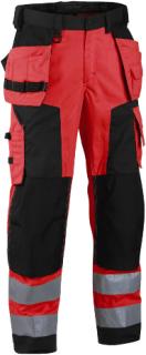 Blåkläder Byxa 1567 Röd/Svart