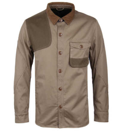 "Barbour stein Twill Clough Overshirt Khaki MEDIUM (38"" Chest)"