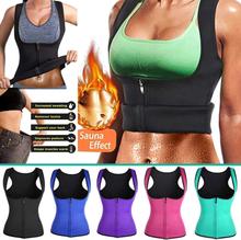 New Vest Corset Fitness Body Shaper Women Waist Trainer Workout Slimming Tops Women Zip Sports Vest SCI88