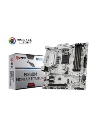 B360M MORTAR TITANIUM Bundkort - Intel B360 - Intel LGA1151 socket - DDR4 RAM - Micro-ATX