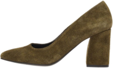 BIANCO Pointed Suede Pumps Women Green