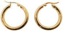 Örhängen, Medium gold hoops, ONE SIZE