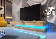 Vivaldi Furniture FLY TV bänk ek wotan med LED belysning och två lådor