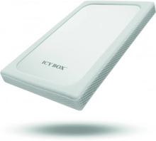 "ICY BOX Extern kabinett för 1x2,5"" hdd USB 3.0 silver/vit"