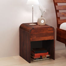 vidaXL Sängbord 41,5x42x52 cm massivt akaciaträ