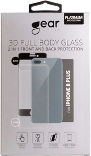GEAR Härdat Glas 3D 2in1 Front & Back iPhone8 Plus Edge to Edge