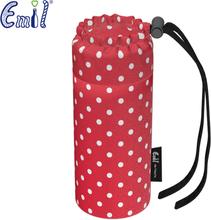 Emil die Flasche - Flaschenbeutel (einzelner Bezug) - 300ml (Bio-Baumwolle) - Punkte - Rot