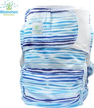 Blümchen - Kinder & Erwachsenen Stoffwindel (Inkontinenz Windel) - Wellen - XS (Junior) Bundweite 38-60cm