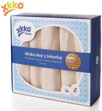 XKKO - Organic Mullwindeln - 100% Bio-Baumwolle - (Alte Zeiten) - 70x70cm - 70x70cm - Ungebleicht (Natur) - 5 Stück