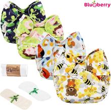 Blueberry - Simplex Newborn (AIO) Bio-Baumwolle (GOTS) - Einsteiger Paket (inkl. GRATIS Zubehör)