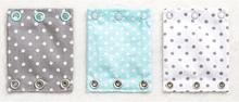 Milchmädchen - Bodyerweiterung (Bodyverlängerung) - Alle Farben (je 3 Stück) - Punkte (Mint)