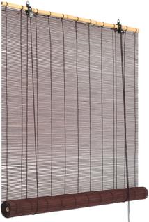 vidaXL rullegardin bambus 80 x 160 cm mørkebrun