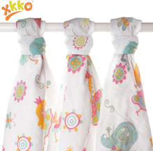 XKKO - LUX Mullwindeln (Musselintücher, Baumwollwindeln) - 70x70 cm & 80x80 cm - SET - 80x80cm - Girls (3 Stück)