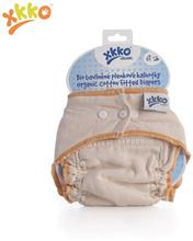 XKKO - Höschenwindeln (100% Bio-Baumwolle) - Natural Organic - S (4-6,5 kg) - orangener Saum
