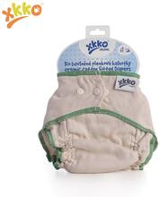XKKO - Organic Höschenwindeln - 100% Bio-Baumwolle - verschiedene Größen - L (8,5-13,5 kg) - grüner Saum