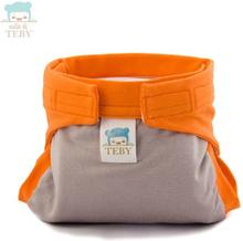 """Culla di Teby (AI3) - """"Classic"""" Baumwolle Hybridwindel - (EINZELN) - Grau & Orange - Größe M (5-11 kg)"""