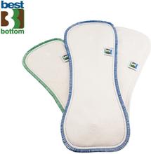 Best Bottom - Saugeinlagen - (Bambus, Hanf & Mikrofaser) - alle Varianten - Größe S (bis 6kg) | Nacht Einlagen Hanf & Baumwolle