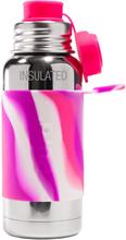 PuraSport™ ISO-Flasche 475ml - BigMouth™ Aufsatz (inkl. Silikonüberzug) - Pink Swirls