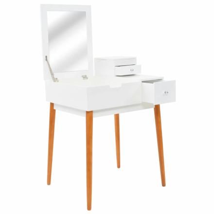 vidaXL Sminkbord med spegel MDF 60x50x86 cm
