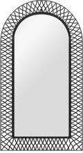 vidaXL Väggspegel välvd 60x110 cm svart