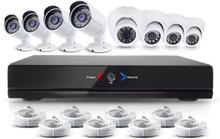 CCTV-reseller Övervakningssystem 2.0MP 4 st ute + 4 st inne övervakningskameror med