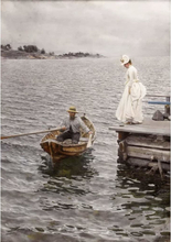 Steve Art Gallery Summer vacation a study,Anders Zorn,30.3x18.8cm