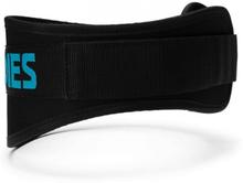 Womens gym belt, Black/aqua