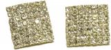 Fyrkantiga örhängen med vita kristaller (16 mm)
