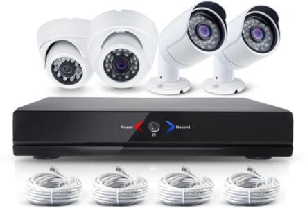 CCTV-reseller Övervakningssystem 2.0MP, 2 st utomhus + 2 st inomhus, larm +mobilapp