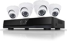 CCTV-reseller Övervakningssystem 2.0MP för inomhus. 4x övervakningskameror med POE