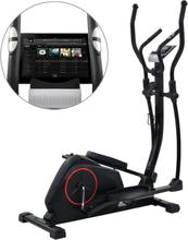 vidaXL Crosstrainer magnetiskt motstånd med pulsmätning XL