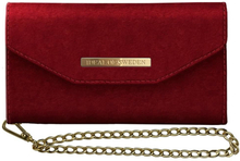 iDeal of Sweden Mayfair Clutch Velvet till iPhone XR - Röd