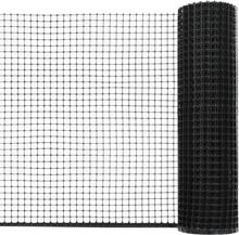 vidaXL Stängselnät HDPE 30x0,6 m svart