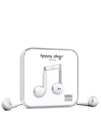Happy Plugs Earbud Plus Hvit