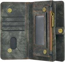 Plånboksfodral/väska till iPhone 7 PLUS med 10 kort Svart