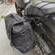 Retro locomotive side bag universal waterproof side bag motorcycle canvas bag knight saddle bag