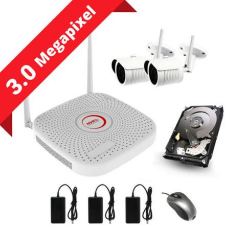 CCTV-reseller 2MP övervakningssystem med 2 kameror (SONY sensors) inkl. allt