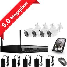 CCTV-reseller 5MP övervakningssystem med 4 IP-kameror. Allt ingår!