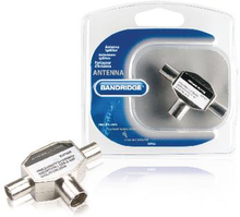 Bandridge Koax Adapter 2x Coax Hane - Koax Hona Silver
